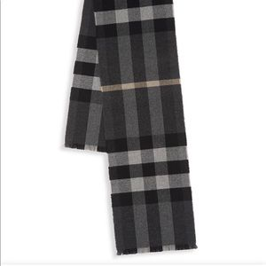 Burberry Wool & Cashmere Plaid Scarf